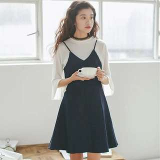 Single Strap Denim Dress
