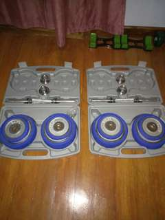 Dumbbells 26 kg with Case