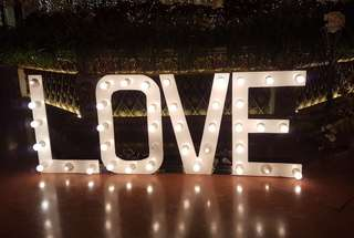LOVE Marquee Lights