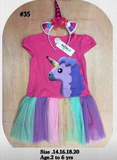 My Little Pony Dress Costume w/ Unicorn Headband