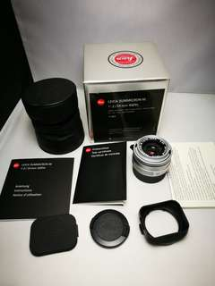 Leica summicron 35mm f2 ASPH v5 silver chrome