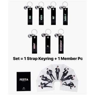 (Set) BTS Festa 2018 Photocard + Strap Keyring