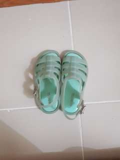 Mini Melissa Flox s8 size 8 Sky Blue authentic auth toddlers shoes sandals zaxy joyfolie