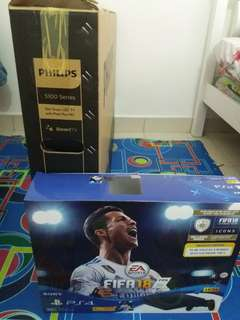 Ps4 budle fifa 18 +tv led 43 inch philips