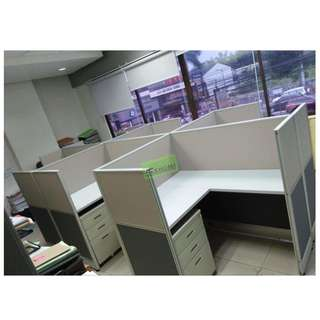 L-TYPE WORKSTATIONS CUBICLES FULL FABRIC PARTITIONS--KHOMI