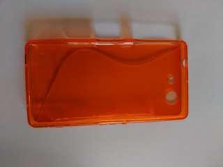 Orange Gel Xperia Z1 phone case