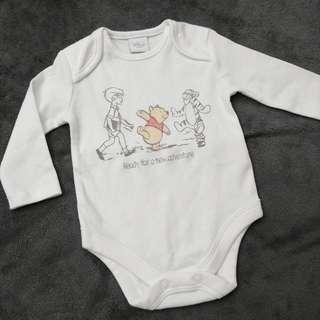 Disney Winnie the pooh 小熊維尼 BB嬰兒長袖連身夾衣 2個尺寸 全新