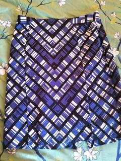 Basque Geometric print pencil skirt