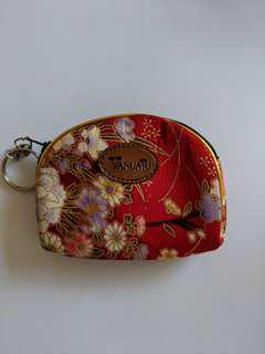 Red Floral Coins Purse/Pouch from Hawaii - Vanuatu