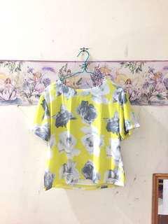 Flowery Yellow Top