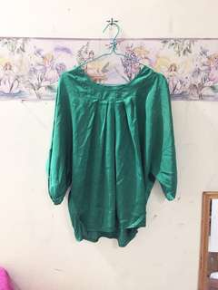 Greeny Crepe Top
