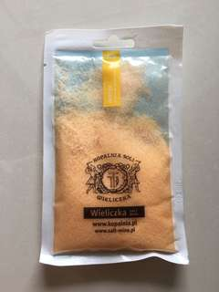 Poland Wieliczka salt mine KINGA orange Bath salt SPA collection