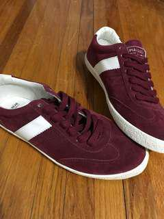 Old School Deep Red Sneakers (Pull&Bear - 7.5)