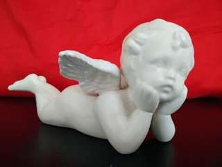 White Ceramics Angel