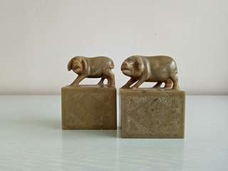 70s A Pair Of Pig Height 9cm Length 6.5cm Perfect Condition Pair For $138