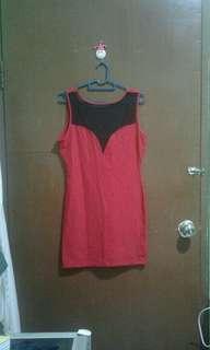 Forever 21 Red Mesh Dress
