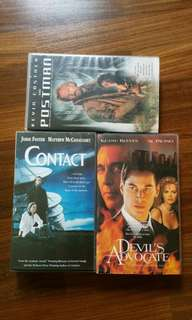 3 pieces of Video Cassette Movies