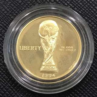 USA World Cup $5 Proof 1994W Gold Coin