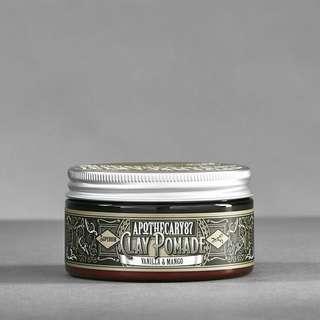 Apothecary 87 Clay Pomade Vanilla Mango Fragrance