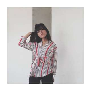 Oasis Stripe Kimono