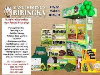 Mang Domeng's Bibingka Franchise Package