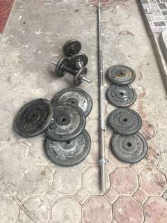 Barbel and Dumbels Set