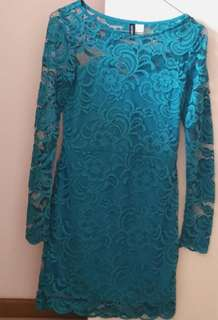 H&M Turquoise Lace Dress