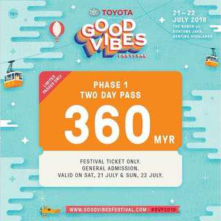Good Vibes Festival 2 day pass