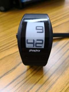 Phosphor world clock e-ink watch
