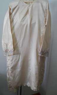 Baju kurung pesak songket cream