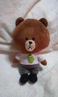 Original Line Brown Bear with Green Tie