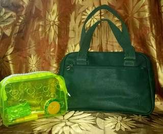 Lacoste Shoulder Bag & Pouch (Bundle)