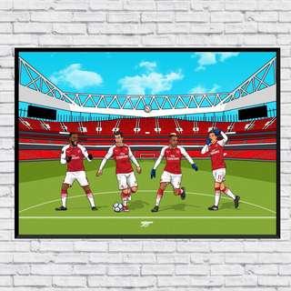 Arsenal LMAO In Wall Print