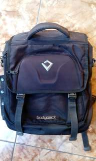 Tas Backpack Notebook/Laptop Bodypack Hitam