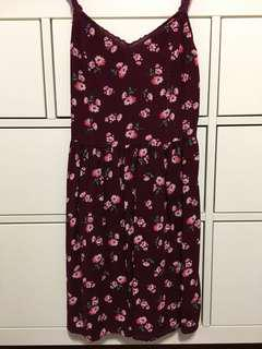 Red Floral Sundress (Abercrombie - small)
