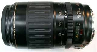 The Canon EF 70-210 mm f/ 3.5-4.5 USM Lens.