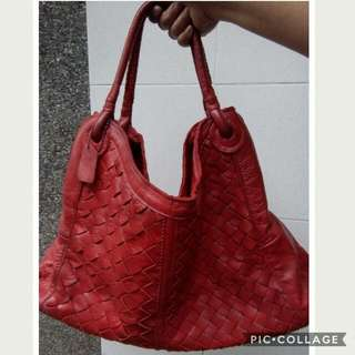 Red Bag Pure Leather Large Size