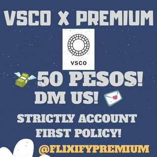 VSCO X PREMIUM 💯