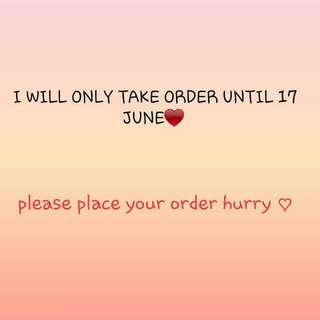 (KOREAN PURCHASE) PLACE YOUR ORDER NOW ♥