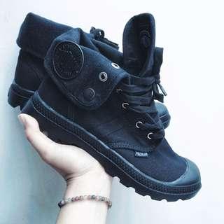 🚚 全新無瑕疵❤️經典款2way黑色高筒帆布鞋