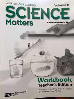 Lower Sec science workbook (teacher's guide)