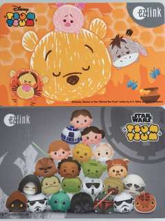 Limited Edition brand new Disney Tsum Tsum And Star Wars ezlink Cards For $12 EACH.