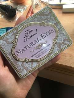 🚚 Too faced natural eyes眼影盤