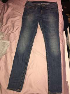 Low rise denim true religion jeans