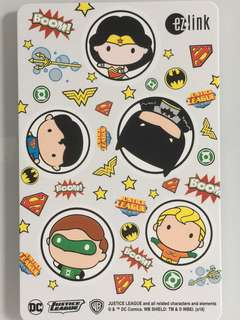 Limited Edition brand new DC Comics with 5 Superheroes ezlink Card For $10.90.