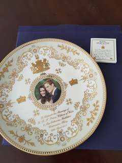 Royal Worcester Royal Wedding Commemorative Plate Prince William & Kate