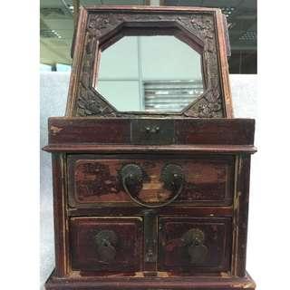 懷舊物件木製 化妝、首飾盒  (1)