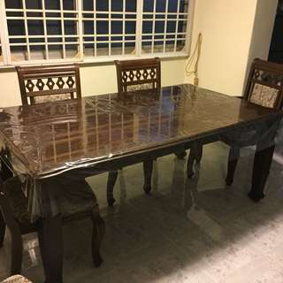 Solid Wood Teak Dining Table (Table only)