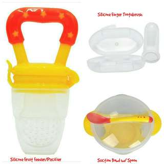 Solid Food Training Set - Yellow Red