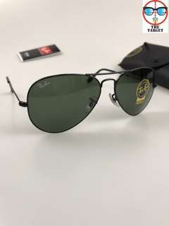 Ray Ban 太陽眼鏡 aviator  lenses rb3025 L2823 58/62mm size brand new full packages original made in Italy rayban
